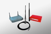 Foto mit Access Points und Antenne